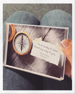 Personalised Compass Acrylic Block