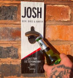 Personalised Printed Beer Bottle Opener Plaque - C