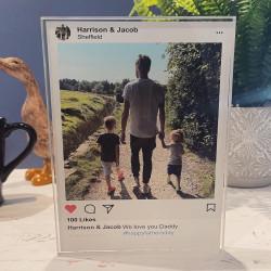 Personalised Instagram Post Acrylic Block - Light Theme