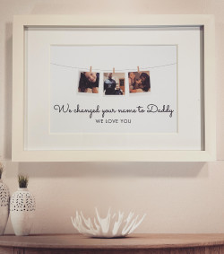 Personalised Photo 'We changed your name' Print - GUARANTEED FOR FATHER'S DAY DELIVERY