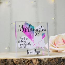 Teacher Kite Watercolour Personalised Acrylic Block (BUY ONE GET ONE FREE!)