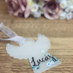 Image of Personalised Acrylic Angel Decoration