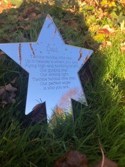 Image of Personalised Engraved Mirrored Star