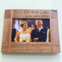 Image of Personalised Oak Frame With Italic Text