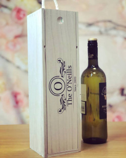 Image of Personalised Couples Wooden Wine Box