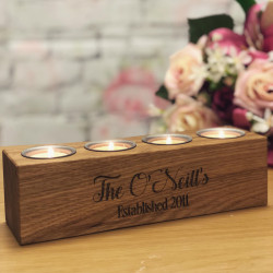 Image of Personalised Wooden Tealight Candle Holder