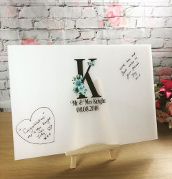 Frosted Acrylic Initial Guest Book