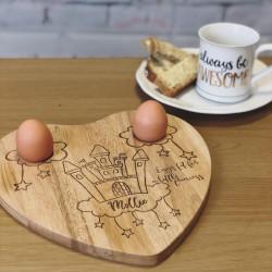 Image of Personalised Castle Egg Holder Board