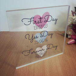 Image of first day yes day acrylic block