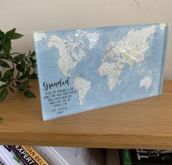 Personalised Map Acrylic Block Large