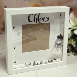 Image of first day last day at school photo frame