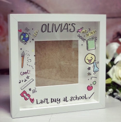 Image of last day at school photo frame