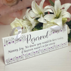 Image of personalised wedding remembrance plaque