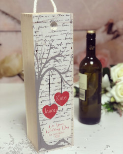 Image of personalised wedding wine box
