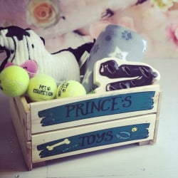 image of personalised dog treat crate