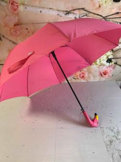 Image of flamingo umbrella