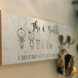 Image Of Personalised Key Hanger Wall Plaque