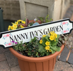 Personalised FREESTANDING Train/street Floral Sign