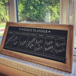 Image of weekly meal planner chalkboard