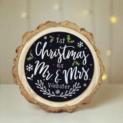 Image of first married christmas gift