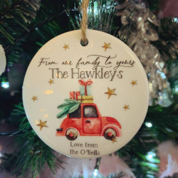 Personalised Hanging From Our Family To Yours Tree Decoration (BUY ONE GET ONE FREE)