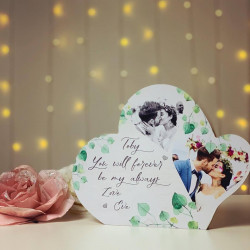 Image of personalised photo heart