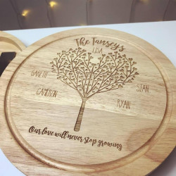 Image of personalised Christmas cheese board