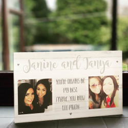 Personalised Best Friend Photo Acrylic Block