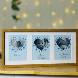 Personalised Triple Baby Photos Frame