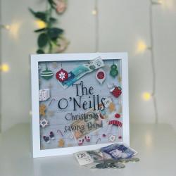 Personalised Christmas Saving Fund Box