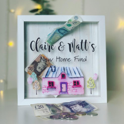 Personalised Watercolour New Home Fund Box