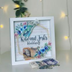 Personalised Art Deco Wedding Fund Box