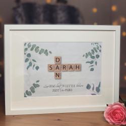 Image of Love Grows Best Scrabble A3 Frame