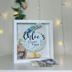 Personalised Globe Travel Fund Box