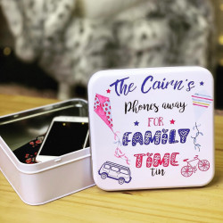 Image of Phones Away For Family Time Tin
