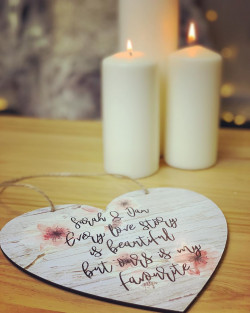 Image of Every Love Story Heart Shaped Hanging Plaque