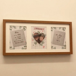 Personalised Triple Heart Photo Frame