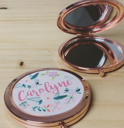 Image of  Floral Name Compact Mirror