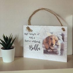Photo Wall Plaque 'pet home' design