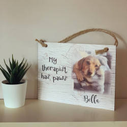 Photo Wall Plaque 'pet therapist' design