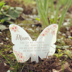 NEW Personalised Floral Remembrance Butterfly