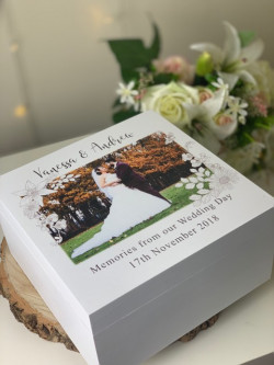 Image of personalised wedding memories box
