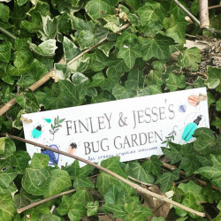 Personalised Childrens Bug Garden Hanging Plaque