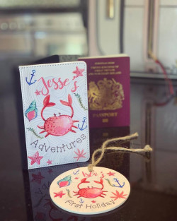 Personalised Children's Passport Cover And Luggage Tag Set