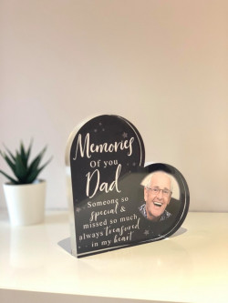 Personalised Photo Remembrance Heart Block