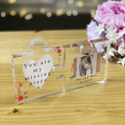 Personalised Love You To Pieces Photo Clear Acrylic Jigsaw Pieces