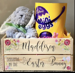Personalised Easter Egg Crate-Floral