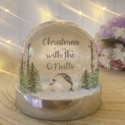 NEW Personalised Snow Globe Shaker - PENGUIN **GUARANTEED FOR CHRISTMAS**