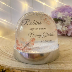 NEW Personalised Snow Globe Shaker - ROBIN **GUARANTEED FOR CHRISTMAS**