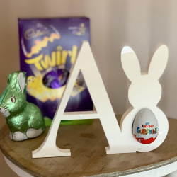 Personalised Freestanding Letter With Bunny